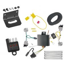 Trailer Wiring and Bracket and Light Tester For 14-19 Cadillac CTS 4 Dr. Sedan 4-Flat Harness Plug Play