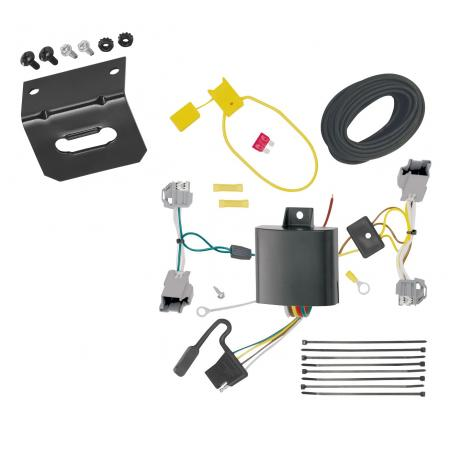 Trailer Wiring and Bracket For 14-19 Cadillac CTS 4 Dr. Sedan 4-Flat Harness Plug Play