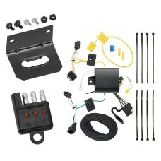 Trailer Wiring and Bracket and Light Tester For 15-19 Volkswagen Golf 12-15 VW Passat 4-Flat Harness Plug Play