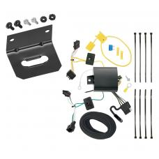 Trailer Wiring and Bracket For 15-19 Volkswagen Golf 12-15 VW Passat 4-Flat Harness Plug Play
