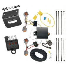 Trailer Wiring and Bracket and Light Tester For 15-17 Volvo V60 (App. starts with 2015-1/2) 4-Flat Harness Plug Play
