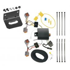 Trailer Wiring and Bracket For 15-17 Volvo V60 (App. starts with 2015-1/2) 4-Flat Harness Plug Play