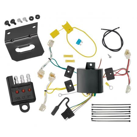 Trailer Wiring and Bracket and Light Tester For 15-20 Toyota Sienna Except SE 4-Flat Harness Plug Play