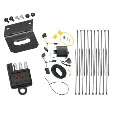 Trailer Wiring and Bracket and Light Tester For 15-18 Jeep Renegade All Styles 4-Flat Harness Plug Play