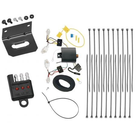 Trailer Wiring and Bracket and Light Tester For 15-17 Lexus NX200t 2015 NX300h All Styles 4-Flat Harness Plug Play