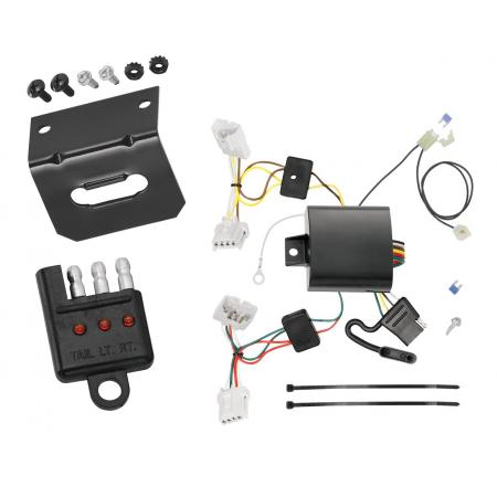 Trailer Wiring and Bracket and Light Tester For 09-14 Nissan Murano Except CrossCabriolet 4-Flat Harness Plug Play