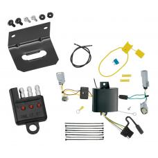 Trailer Wiring and Bracket and Light Tester For 15-19 Dodge Challenger All Styles 4-Flat Harness Plug Play