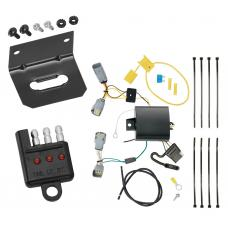 Trailer Wiring and Bracket and Light Tester For 15-20 Chrysler 300 All Styles 4-Flat Harness Plug Play