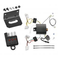 Trailer Wiring and Bracket and Light Tester For 15-19 Nissan Murano Except CrossCabriolet 4-Flat Harness Plug Play