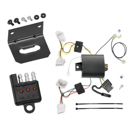 Trailer Wiring and Bracket and Light Tester For 15-20 Nissan Murano Except CrossCabriolet 4-Flat Harness Plug Play