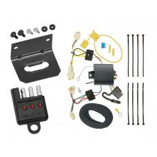 Trailer Wiring and Bracket and Light Tester For 15-19 Toyota Yaris All Styles 4-Flat Harness Plug Play