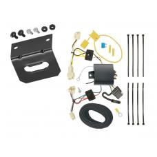 Trailer Wiring and Bracket For 15-19 Toyota Yaris All Styles 4-Flat Harness Plug Play