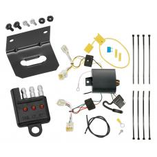 Trailer Wiring and Bracket and Light Tester For 11-16 Hyundai Sonata Hybrid 4-Flat Harness Plug Play