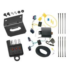 Trailer Wiring and Bracket and Light Tester For 05-10 VW Volkswagen Jetta 4 Dr. Sedan 4-Flat Harness Plug Play
