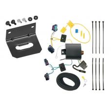 Trailer Wiring and Bracket For 05-10 VW Volkswagen Jetta 4 Dr. Sedan 4-Flat Harness Plug Play