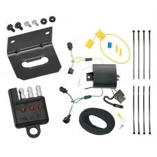 Trailer Wiring and Bracket and Light Tester For 11-17 VW Volkswagen Touareg All Styles 4-Flat Harness Plug Play