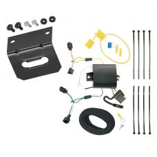 Trailer Wiring and Bracket For 11-17 VW Volkswagen Touareg All Styles 4-Flat Harness Plug Play