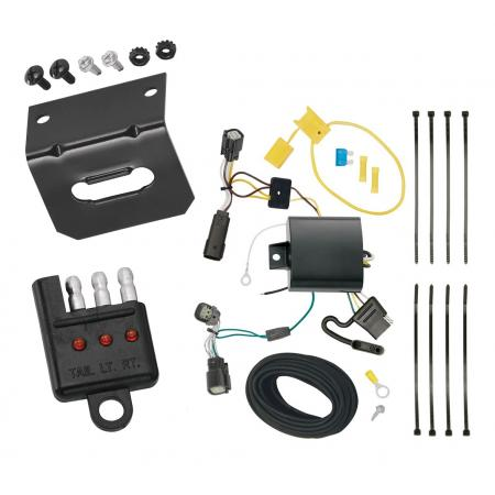 Trailer Wiring and Bracket and Light Tester For 15-18 Ford Edge SE and SEL Models Only 4-Flat Harness Plug Play