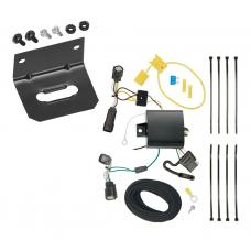 Trailer Wiring and Bracket For 15-18 Ford Edge SE and SEL Models Only 4-Flat Harness Plug Play