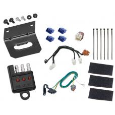 Trailer Wiring and Bracket and Light Tester For 14-19 Infiniti QX60 13-19 Nissan Pathfinder 4-Flat Harness Plug Play