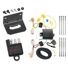 Trailer Wiring and Bracket and Light Tester For 15-19 Subaru Legacy All Styles 4-Flat Harness Plug Play