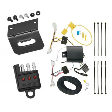 Trailer Wiring and Bracket and Light Tester For 14-20 Infiniti Q50 All Styles 4-Flat Harness Plug Play
