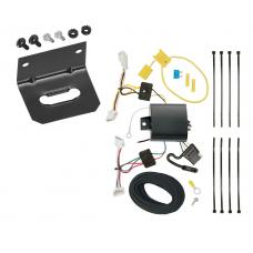 Trailer Wiring and Bracket For 14-20 Infiniti Q50 All Styles 4-Flat Harness Plug Play