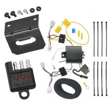 Trailer Wiring and Bracket and Light Tester For 16-19 Honda HR-V All Styles 4-Flat Harness Plug Play