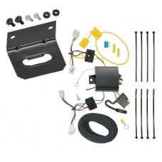 Trailer Wiring and Bracket For 16-20 Honda HR-V All Styles 4-Flat Harness Plug Play
