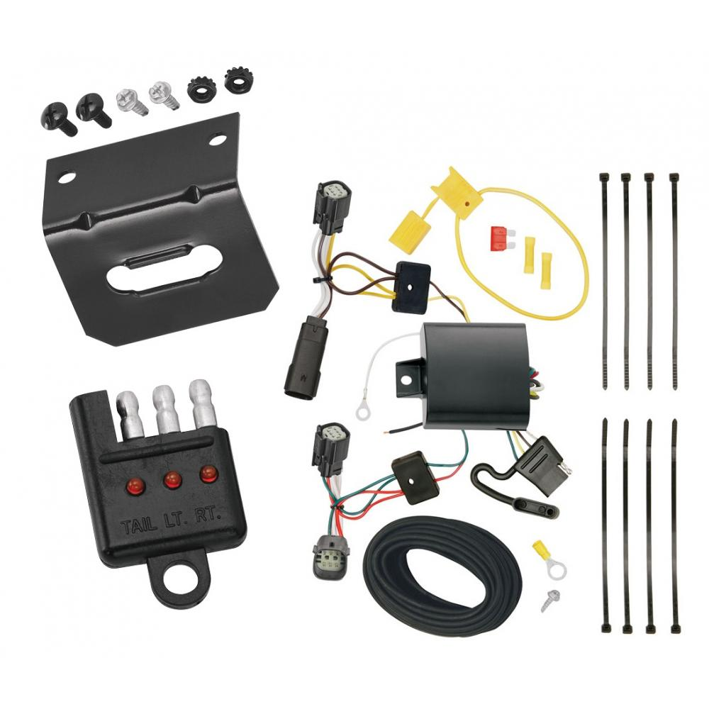 Trailer Wiring and Bracket and Light Tester For 15-18 Ford Focus 5 Dr.  Hatchback 4-Flat Harness Plug PlayTrailerJacks.com