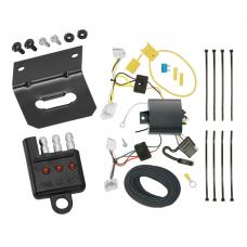 Trailer Wiring and Bracket and Light Tester For 16-19 Nissan Maxima All Styles 4-Flat Harness Plug Play