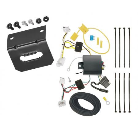 Trailer Wiring and Bracket For 16-19 Nissan Maxima All Styles 4-Flat Harness Plug Play