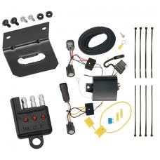 Trailer Wiring and Bracket and Light Tester For 15-18 Ford Edge Titanium and Sport Models Only 4-Flat Harness Plug Play