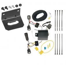 Trailer Wiring and Bracket For 15-18 Ford Edge Titanium and Sport Models Only 4-Flat Harness Plug Play