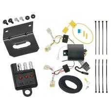 Trailer Wiring and Bracket and Light Tester For 2016 Hyundai Elantra 4 Dr. Limited Models Only 4-Flat Harness Plug Play