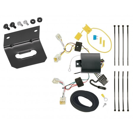 Trailer Wiring and Bracket For 2016 Hyundai Elantra 4 Dr. Limited Models Only 4-Flat Harness Plug Play