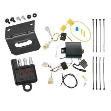 Trailer Wiring and Bracket and Light Tester For 12-19 Toyota Prius C All Styles 4-Flat Harness Plug Play