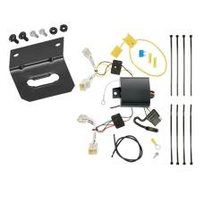 Trailer Wiring and Bracket For 12-19 Toyota Prius C All Styles 4-Flat Harness Plug Play