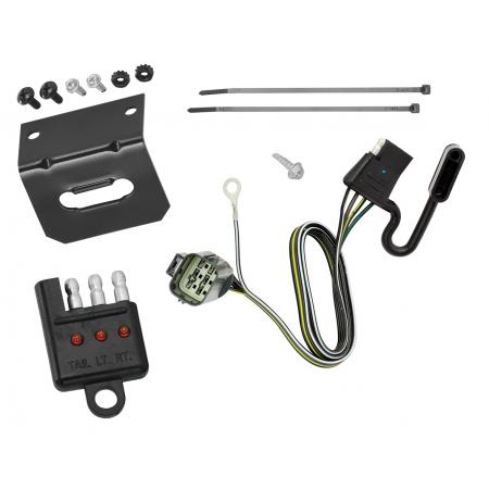 Trailer Wiring and Bracket and Light Tester For 14-20 Land Rover Range Rover Sport 2015 Range Rover 4-Flat Harness Plug Play