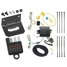 Trailer Wiring and Bracket and Light Tester For 17-20 Lincoln Continental 16-18 MKX All Styles 4-Flat Harness Plug Play