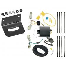 Trailer Wiring and Bracket For 17-20 Lincoln Continental 16-18 MKX All Styles 4-Flat Harness Plug Play