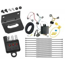 Trailer Wiring and Bracket and Light Tester For 16-20 Toyota Tacoma All Styles 4-Flat Harness Plug Play