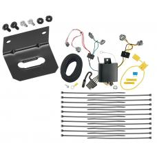 Trailer Wiring and Bracket For 16-20 Toyota Tacoma All Styles 4-Flat Harness Plug Play