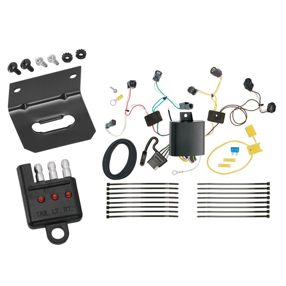 trailer wiring and bracket and light tester for 16 19. Black Bedroom Furniture Sets. Home Design Ideas