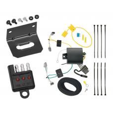 Trailer Wiring and Bracket and Light Tester For 16-20 Chevrolet Malibu except Premier (New Body Style) 4-Flat Harness Plug Play