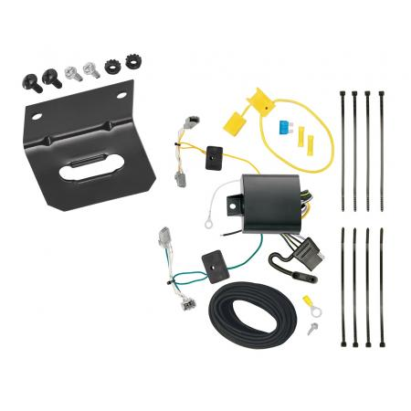 Trailer Wiring and Bracket For 16-19 Chevrolet Malibu except Premier (New Body Style) 4-Flat Harness Plug Play