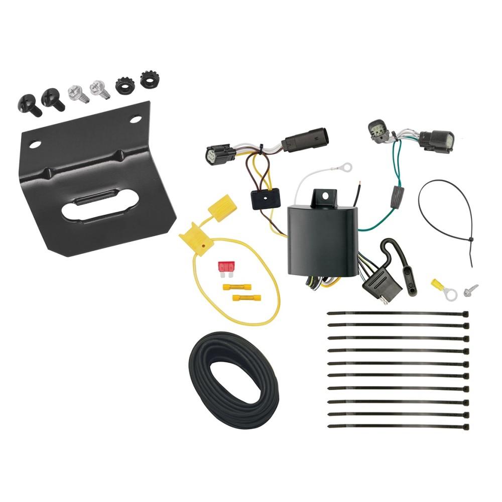 Trailer Wiring and Bracket For 16-18 Chevrolet Camaro All Styles 4-Flat  Harness Plug PlayTrailerJacks.com