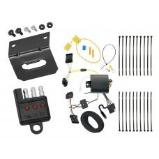 Trailer Wiring and Bracket and Light Tester For 16-18 FIAT 500X All Styles 4-Flat Harness Plug Play