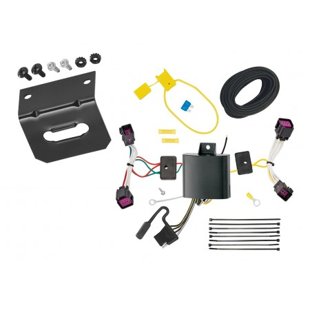 Trailer Wiring and Bracket For 16-20 Chevrolet Spark All Styles 4-Flat Harness Plug Play