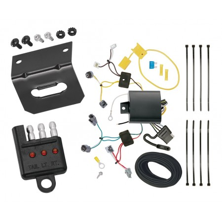 Trailer Wiring and Bracket and Light Tester For 2016 Honda Accord Coupe 4-Flat Harness Plug Play